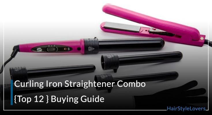 Curling Iron Straightener Combo