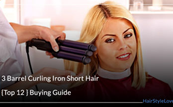 3 Barrel Curling Iron Short Hair